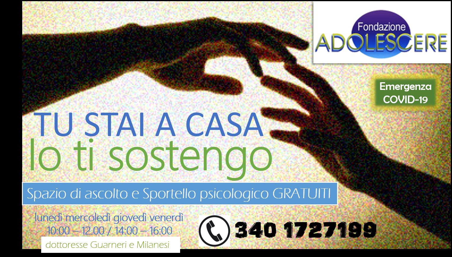Emergenza Covid-19: SPAZIO DI ASCOLTO E SPORTELLO PSICOLOGICO